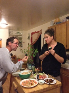 hand roll dinner with my besties