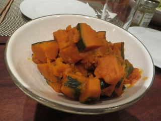 kabocha squash cooked in Japanese style