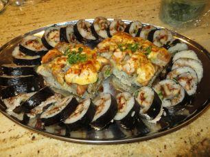 Eel Avocado rolls and Orgasm Rolls