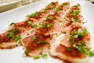 Albacore tuna with dry miso