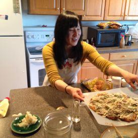 here is your last course, Okonomiyaki