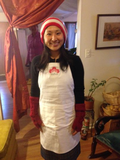 miho in her new apron