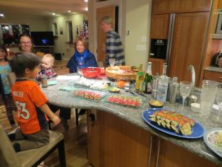 kids loved sushi dinner
