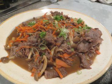 kobe beef with mushrooms