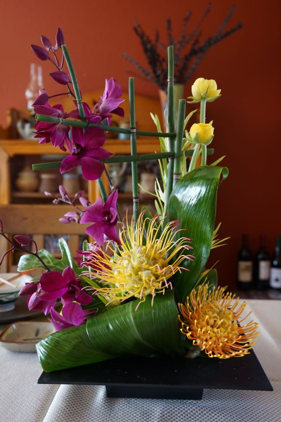 Beautiful flower arrangement for party