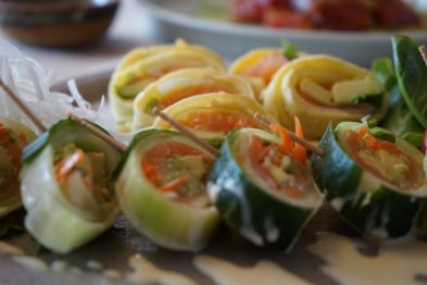 yummy-ness wrapped in cucumber