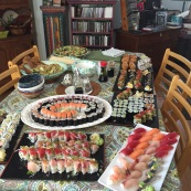 half of this is vegetarian sushi