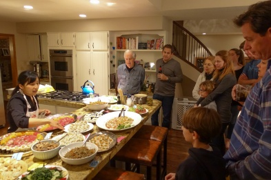 whole family gathering for the feast!